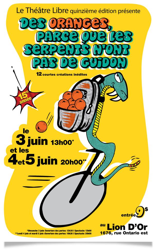 Spectacle 2013 - Des oranges, parce que les serpents n'ont pas de guidon !