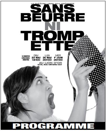 Spectacle 2011 - Sans beurre ni trompette